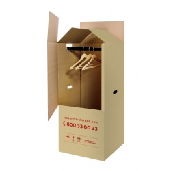 Wardrobe Box with a Moving Kit, 50x60 cm, height: 115 cm