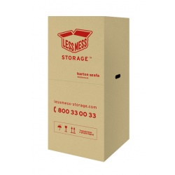 Wardrobe Box without Hanging Bar, 50x60 cm, height: 115 cm